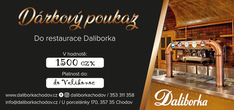 Dárkový poukaz - restaurace Daliborka Chodov